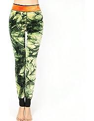 Vollter Mujeres de alta cintura de longitud completa para invierno caliente con tres capas Leggings