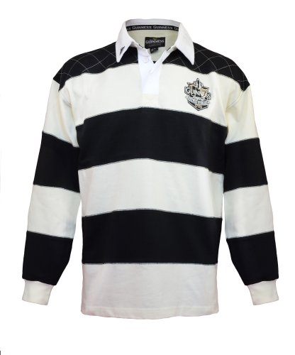 Guinness Official Merchandise Herren Shirt, Knopfleiste - Multicolored - Black/Cream - XX-Large (Guinness Rugby)