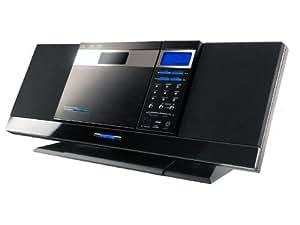 H&B Mini chaîne HIFI Monobloc HF-288I Compatible IPOD et USB cd audio /cd mp3 / CD-rw noir Xénon