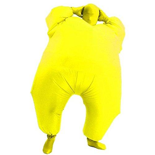 Haafee Kostüme für Erwachsene Aufblasbares Kostüm Fett Anzug, Fasching Karneval Party Outfit (Gelb)