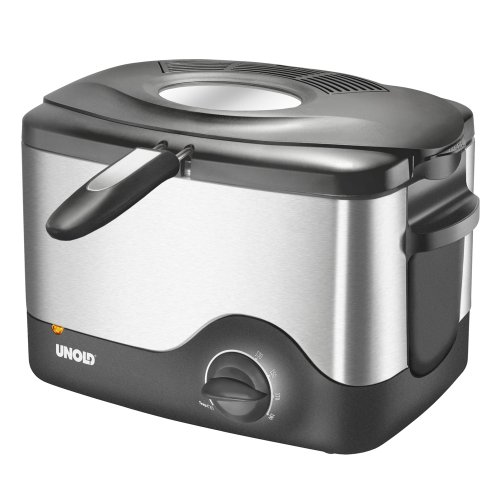 Unold 58615 Friteuse Compact en Inox 1,5 Litre 1 200 watts