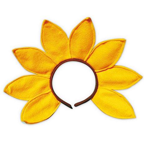 Blume Kopfbedeckung Kostüm - Haarreif Haar Reif Spange Sonnenblume