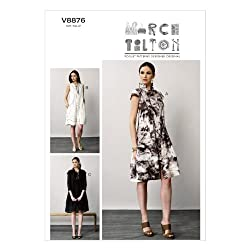 VOGUE PATTERNS V8876 Misses' Dress Sewing Template, Size B5 (8-10-12-14-16)
