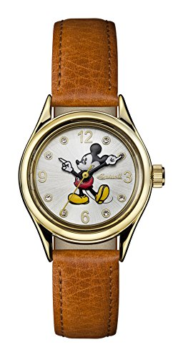 Ingersoll Disney Women's Union Quartz Watch with Gold Dial and Tan Leather Strap ID00901
