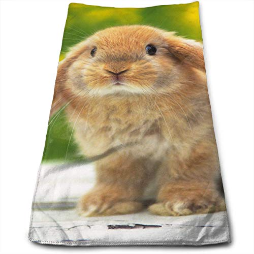 ERCGY Cute Little Bunny Microfiber Bath Towels,Soft, Super Absorbent Fast Drying, Antibacterial, Use Sports, Travel, Fitness, Yoga