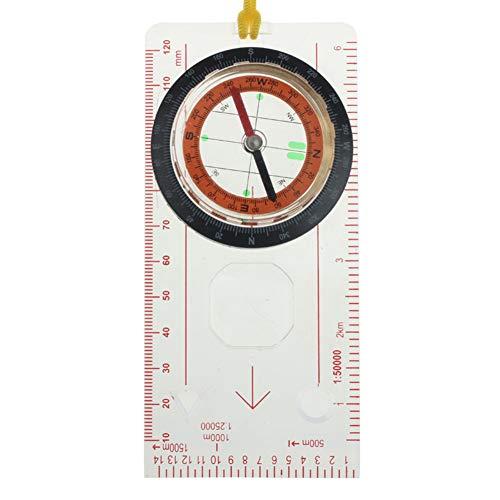 Kartenkompass Bodenplatte Mit Kartenlineal Der Ideale Kompass Für Survival, Orientierung, Navigation, Backpacking Mit Leuchtziffern Für Camping Marsch Outdoor