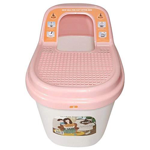 MASAP Ciotola per lettiera per Gatti Antisplashing Topin Toilette per Gatti Enorme recinto Forniture per Gatti Toilette per Gatti Toilette Pentola Viola Vasino 58 × 41 × Alto 52Cm @ Rosa