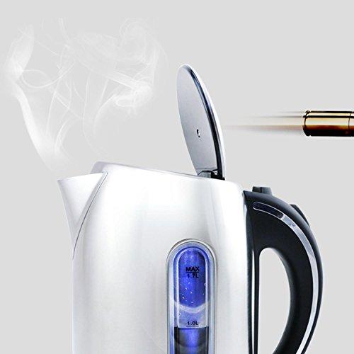 confronta il prezzo Aigostar King 30CEA - Bollitore elettrico in acciaio inossidabile con illuminazione a LED, 2200 Watt con capacità da 1.7 litri, Protezione a bocca secca, BPA Free. Design esclusivo. miglior prezzo