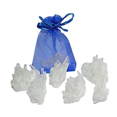 6 Stück Bergkristall schöne kleine Stufen Natur gewachsen und Natur belassen Give away Geschenk Mitbringsel (4584)