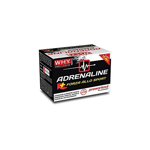 Why Sport Adrenaline Preworkout Integratore alimentare con aminoacidi creatina taurina vitamina B6