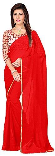 Panch Janya Chiffon Saree (Chifon.Red_Red)