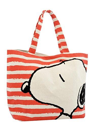 Coriex Strandtasche, Shopper, Snoopy Design, mit Innentasche und Magnetverschluss, 50 cm, P93223