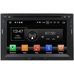 Android 8.0 Octa Core DVD de voiture Navigation GPS lecteur multimédia stéréo de voiture pour Peugeot 3008 5008 PG Partner 2010 - 2016 Autoradio Commande au volant avec WiFi Bluetooth carte SD gratuit