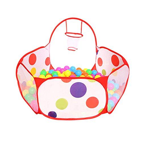 Newcomdigi Plegable Piscina de Bola de Juego Poliéster con Rim, Piscina de Pelota Tienda de Juego para Niños y Infantiles - Diametro de 1,2 m, Sin Pelotas