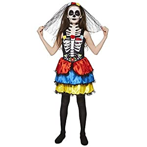 Karnival Costumes- Halloween Day of The Dead Girl Disfraz, Multicolor, extra-large (84552)