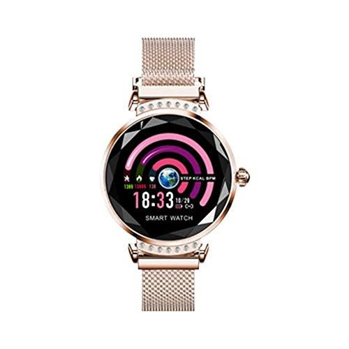 Damen Mode Smart Watch Frauen 3D Diamant Glas Armband Blutdruck Schlaf Pulsmesser IP67 Wasserdichte Smartwatch Fitness Tracker Aktivität Smart Armband Bluetooth Sportuhr Mit Schrittzähler