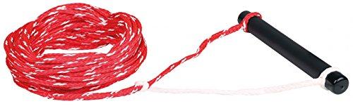 MESLE Wasserskileine Set 75', 23 m Komplettleine mit Foam-Griff, rot-weiss