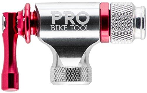 CO2-Inflator von PRO BIKE TOOL - Schnell und Einfach - Presta & Schrader Ventil Kompatibel - Kartuschenpumpe für Rennrad & Mountain-Fahrräder - Isolierte Hülle - Keine CO2 Kartuschen enthalten - 3
