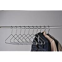 KRH100 Heavy Duty Chrome Coat Hangers (Pack of 100)