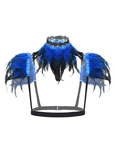 Drachen Kostüm Für Frauen - iixpin Damen Gothic Feder Cape Schal