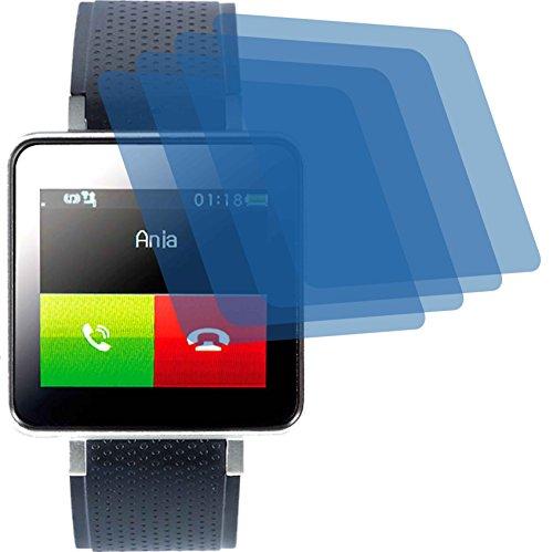 4ProTec 4X Crystal Clear klar Schutzfolie für Pearl Simvalley Mobile PW-415.Steel Bildschirmschutzfolie Displayschutzfolie Schutzhülle Bildschirmschutz Bildschirmfolie Folie