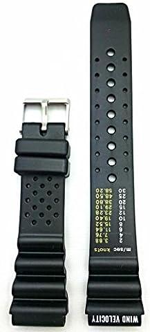 Bande de montre 20mm noir