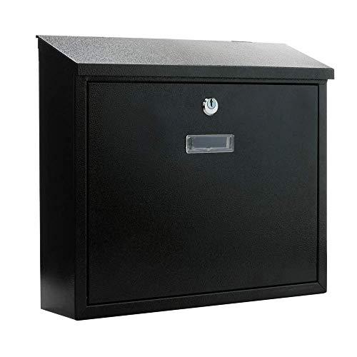 PrimeMatik - Buzón metálico para Cartas y Correo Postal de Color Negro...