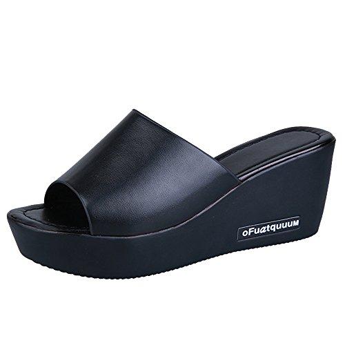 VECDY Schuhe Damen, Flache Dicke Untere Schuhe Slip On Stiefeletten Casual Plattform Sportschuhe Elegant Freizeitschuhe Flache Schuhe Laufschuhe