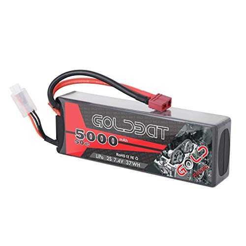GOLDBAT 5000mAh 7,4v 2S 50C LiPo Akku Pack mit Deans Stecker für Rc Car Truck RC Boot Wing RC Auto Rock Crawler Airplane Helicopter Boot Rock