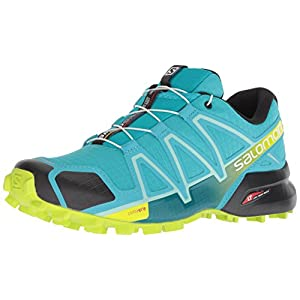 Salomon Damen Speedcross 4 Traillaufschuhe , Blau (Bluebird/Acid Lime/Black) , 40 EU