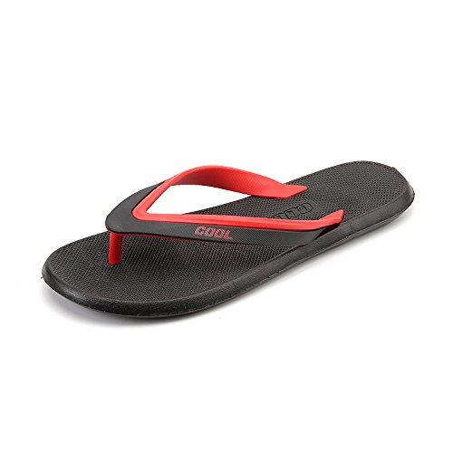 Tongs, sandales dété pour hommes, des salles de bain, tongs, chaussures de plage black