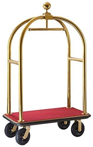Hotel bagagli macchina colore: oro, colore (rivestimento): rosso