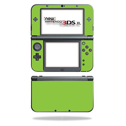 mightyskins Haut für Nintendo Schutz, Langlebig, und Einzigartige Vinyl Aufkleber WRA Grün Lindgrün 3DS XL (2015) Lime Green Faceplates