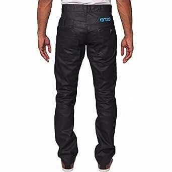 Bild nicht verfügbar. Keine Abbildung vorhanden für. Farbe  Enzo Herren  Straight Fit schwarz beschichtet Jeans ... 686b12a574