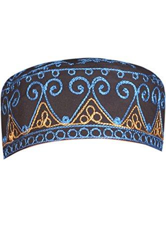 Egypt Bazar Traditionelle Arabische Kopfbedeckung - Araber - Karnevalskostüm/Farbe: schwarz