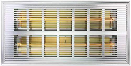 XHHWZB 500W montado en la Pared Panel Calefactor con LCD de 24 Horas Temporizador IP24 baño Caja Fuerte...