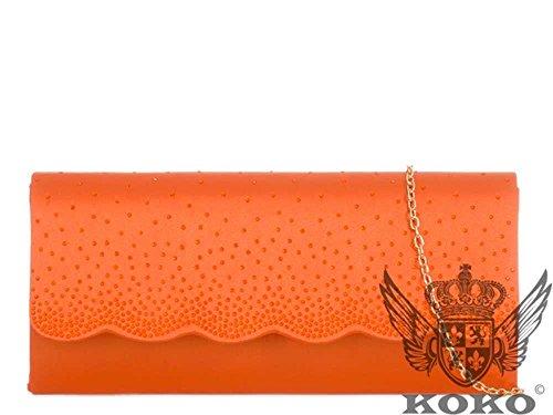 Hautefordiva, Damen Clutch Fuchsia M Arancione
