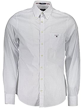 Gant Printed Broadcloth Reg Bd, Camicia Uomo, Navy