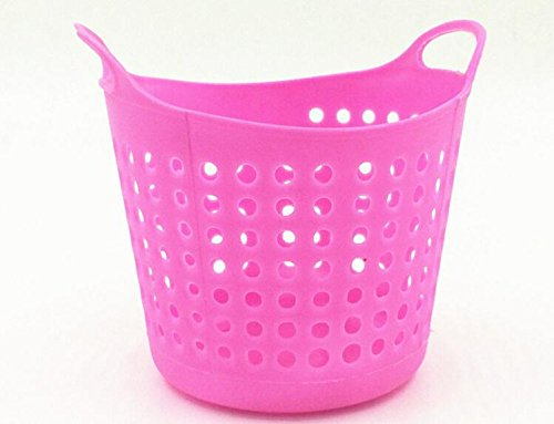 Colorful Plastic Table Organizer Storage Baskets Cosmetic Multi-purpose Mini Basket Storage (pink)