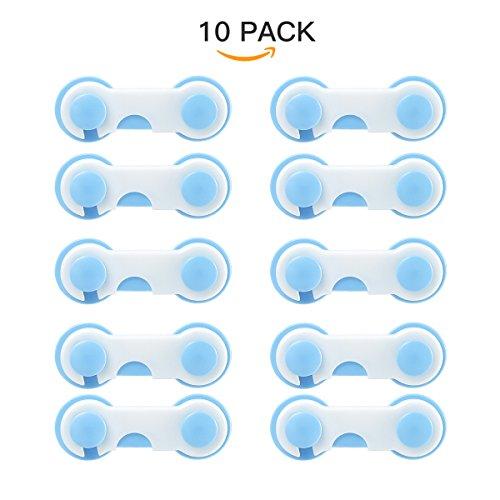 10er Pack Baby Türsicherung Schranksicherung Schubladensicherung Kindersicherung Türriegel Test