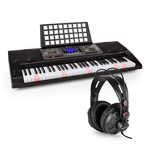 Schubert Etude 450 • Lern-Keyboard mit Notenständer und Kopfhörer • 61 Tasten (5 Oktaven, C2 - C7) • USB-MIDI-Player • LCD-Display • 460 Stimmen • 260 Begleitrhythmen • 65 Demo-Songs • schwarz
