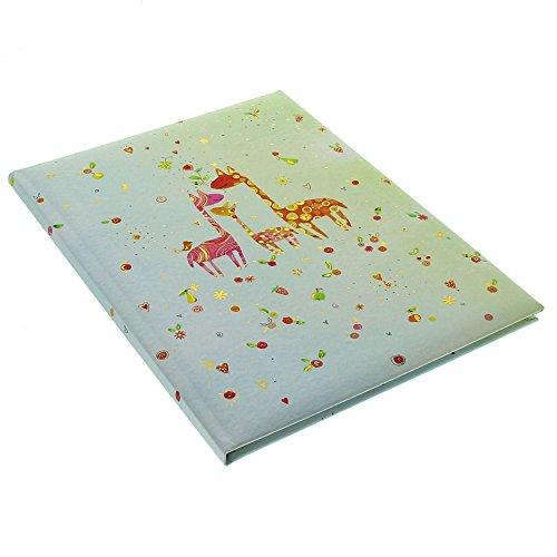 Goldbuch Babytagebuch, Little Family, 21 x 28 cm, 44 illustrierte Seiten mit Pergamin-Trennblättern, Kunstdruck mit Goldprägung und Relief, Türkis, 11279