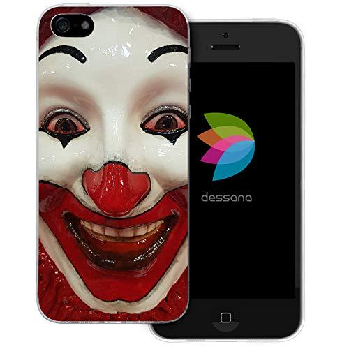 ty transparente Schutzhülle Handy Case Cover Tasche für Apple iPhone 5/5S/SE Clown Maske ()