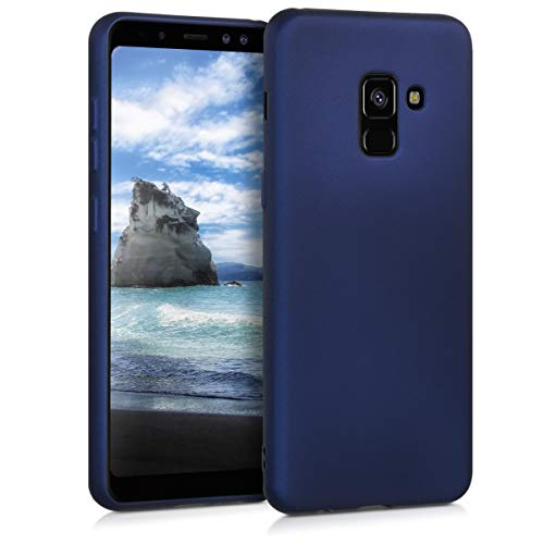 kwmobile Samsung Galaxy A8 (2018) Hülle - Handyhülle für Samsung Galaxy A8 (2018) - Handy Case in Metallic Blau