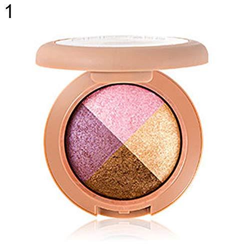ngratyhJohn Fards à paupières, 4 couleurs de palette de fard à paupières imperméable à l'eau de maquillage matte cosmétique mettant en valeur la poudre 1#