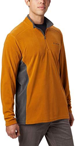 Columbia Herren Klamath Range II Fleece-Pullover Mit Halbem Reißverschluss, Burnished Amber, Shark, XXL Columbia Klamath Range
