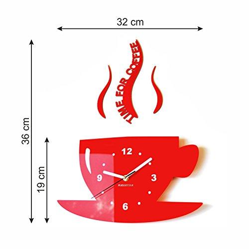 Reloj de pared para cocina, diseño moderno de taza por FLEXISTYLE ...