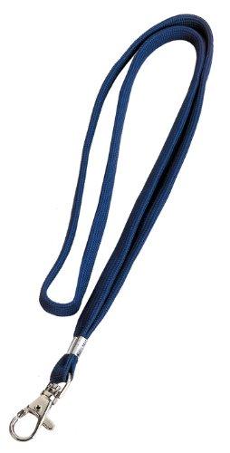 Veloflex-2023000-Textilband-fr-Namensschilder-10-mm-breit-mit-Karabinerhaken-blau-10-Stck