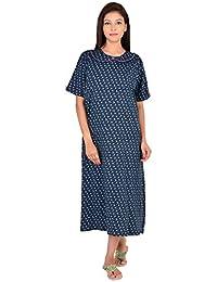 6624255f97 9teenAGAIN Women s Hosiery Printed Hosiery Nursing Nighty with Front Layered  Opening