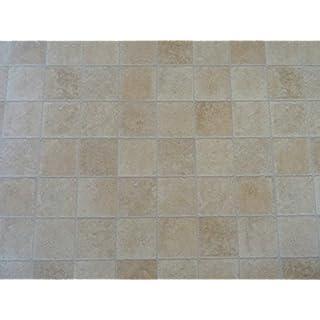 PVC in Natur-Fliesenoptik, beige - von Alpha-Tex 9.95€/m² (Länge: 200 cm, Breite: 200cm)